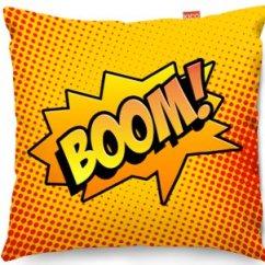Mini Sofa Chairs Cream Colored Slipcovers Kico Comic Pop Art 45x45cm Funky Cushion - Boom! At ...