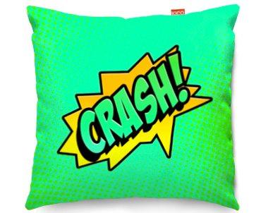 Kico Comic Pop Art 45x45cm Funky Sofa Cushion Crash At