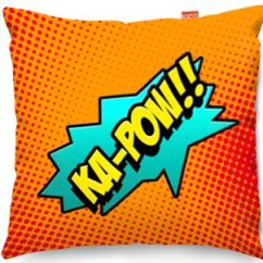Entertainment Sofa Sets Green Australia Kico Comic Pop Art 45x45cm Funky Cushion - Ka-pow! At ...
