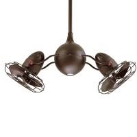 Reina Dual Ceiling Fan   Barn Light Electric