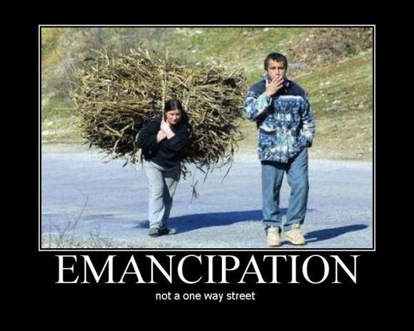 Emanzipation ist keine Einbahnstraße!