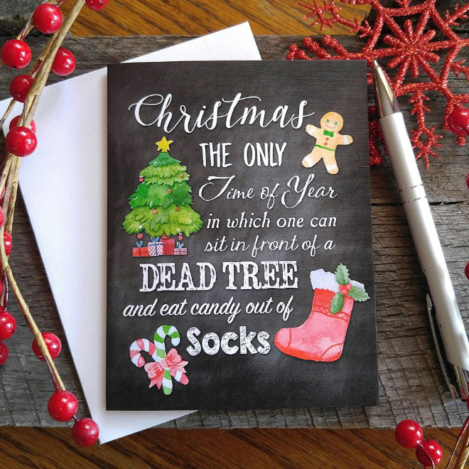 20 Christmas Cards That Are Actually Funny Barnorama