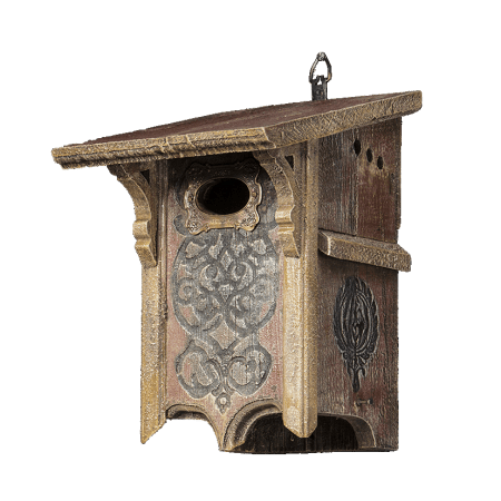bluebird letterbox bird feeder hand crafted from barnwood