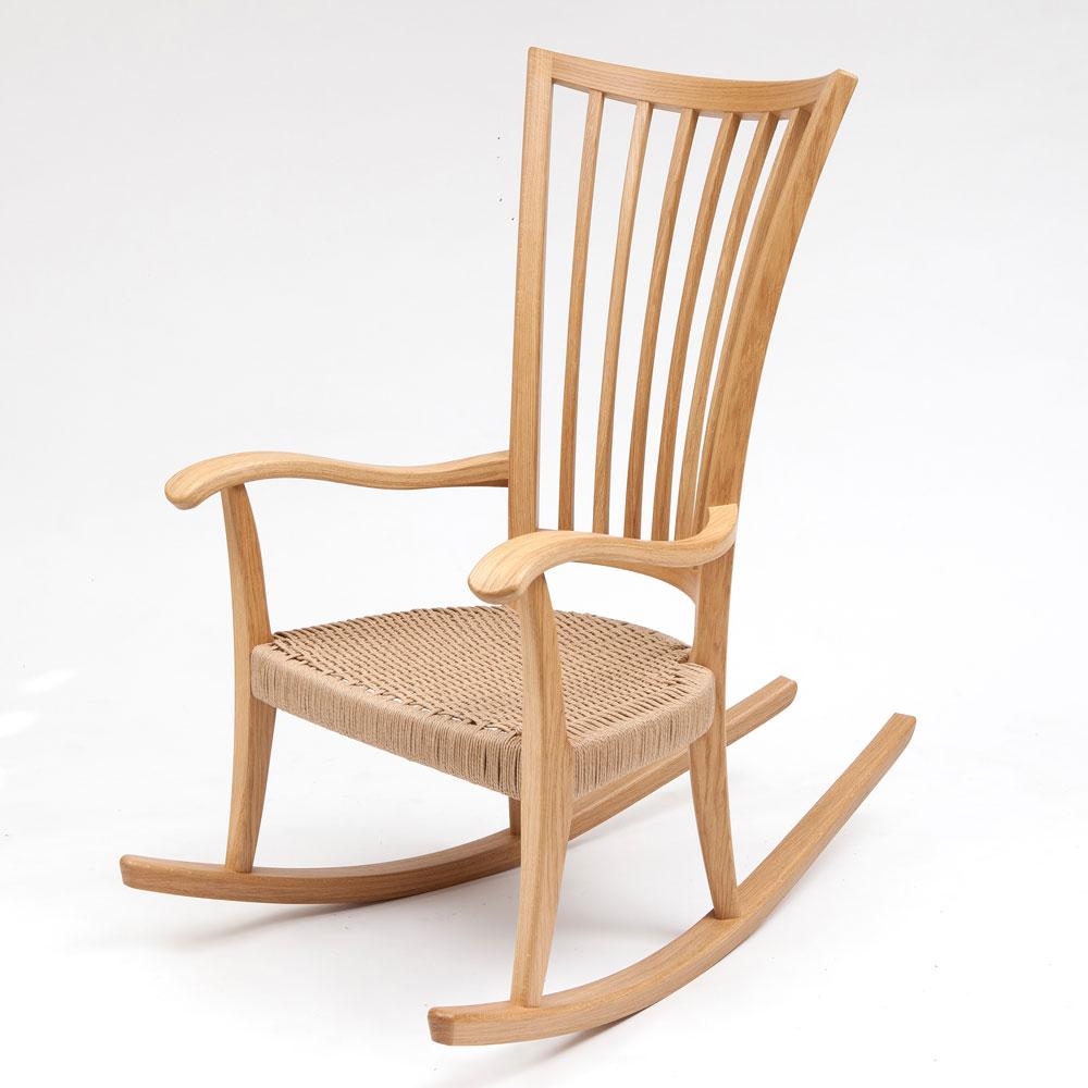 Oak Rocking Chair  Edward Barnsley Workshop
