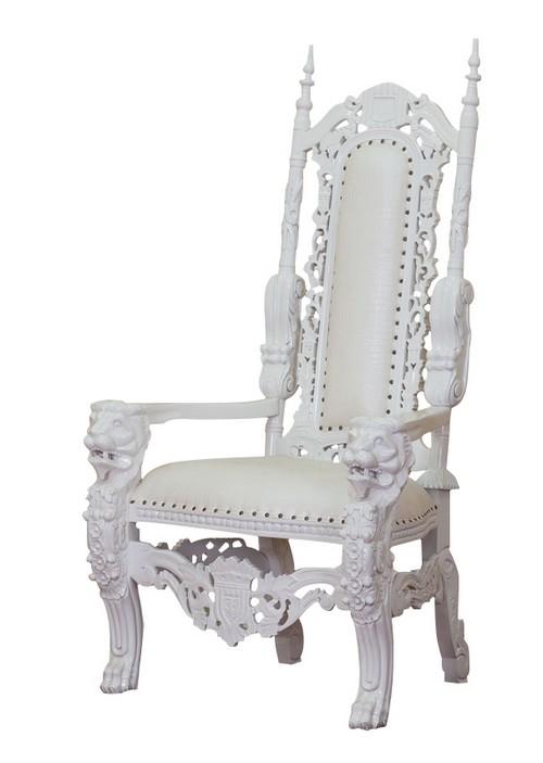 Imposant et Majestueux trne roi lion belles finitions assise trs confortable