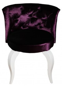 Casa Padrino Baroque Salon Chair Purple - Designer Chair ...