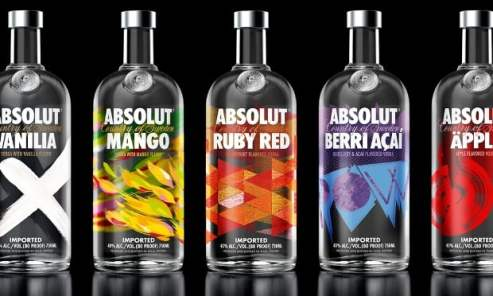 kinds of ABSOLUT votka