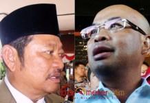 KASUS SIPOA: Desmond J Mahesa (kanan), Komisi III DPR RI akan memanggil Saiful Ilah (kiri) dalam kasus penipuan Sipoa. | Foto: Barometerjatim.com/ENEF MADURY/IST
