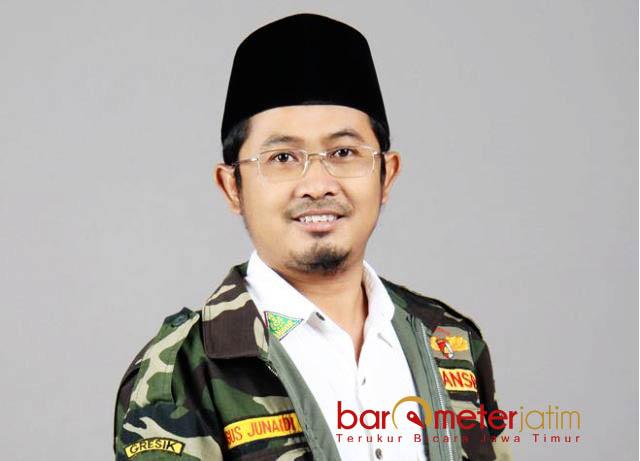 TEPIS RUMOR: Agus Junaidi, bantah memanfaatkan Ansor untuk kepentingan maju sebagai Caleg DPRD Jatim. | Foto: Barometerjatim.com/DIDIK HENDRIYONO