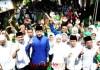 AMANKAN SUARA KHOFIFAH-EMIL: AHY bersama Khofifah menghadiri acara halal bi halal yang digelar Muslimat NU Nganjuk, Kamis (21/6). | Foto: Barometerjatim.com/ROY HASIBUAN