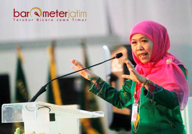 BERI ELEKTORAL JOKOWI: Khofifah Indar Parawansa, bakal memberi efek signifikan bagi kemenangan Jokowi di Pilpres 2019. | Foto: Barometerjatim.com/ROY HASIBUAN