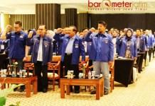 RAKORDA DEMOKRAT JATIM: Rakorda Partai Demokrat Jatim di Surabaya, Sabtu (21/7). Tetap siapkan AHY maju Pilpres 2019. | Foto: Barometerjatim.com/ROY HASIBUAN