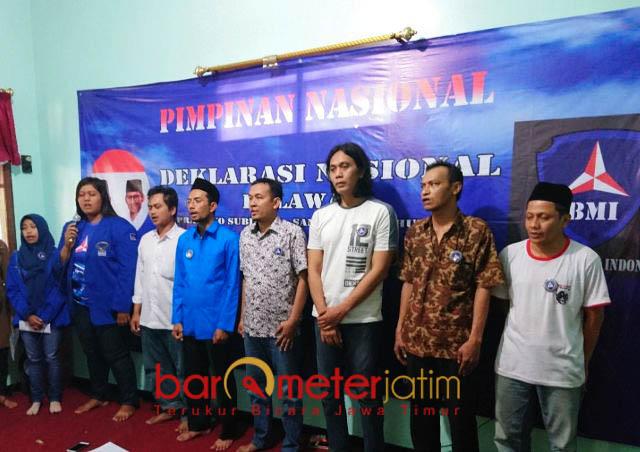 RELAWAN PRABOWO-SANDIAGA: Barisan Bintang Mercy Indonesia (BMI) menggelar Deklarasi Nasional Relawan Prabowo-Sandiaga di Surabaya, Jumat (9/8).   Foto: Barometerjatim.com/NANTHA LINTANG