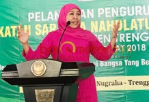 PUNYA BASIS KONSTITUEN: Khofifah factor dinilai akan mewarnai Pilkada serentak 2020, termasuk Pilwali Surabaya. | Foto: Barometerjatim.com/ROY HASIBUAN