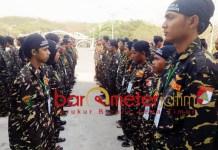 MAKIN DIMINATI: Diklatsar II Banser GP Ansor Kota Surabaya di Pantai Kenjeran, 2-4 November 2018.   Foto: Barometerjatim.com/NATHA LINTANG