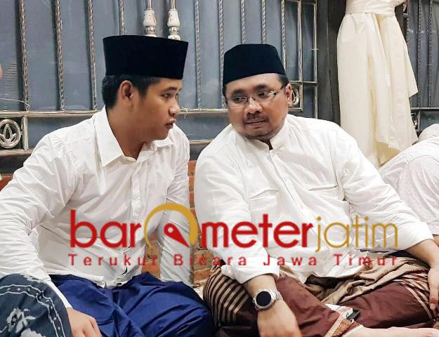 Usai Rakorwil, Gus Abid bertemu Gus Yakut di Rembang, Jateng.   Foto: Barometerjatim.com/roy hs