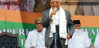 Cawapres 01, KH Ma'ruf Amin hadiri Harlah ke-96 Nahdlatul Ulama di Banten. | Foto: Ist