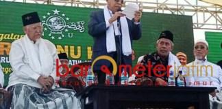 Kiai Ma'ruf Amin hadiri Harlah ke-93 NU di Gresik. | Foto: Barometerjatim.com/didik hendriyono