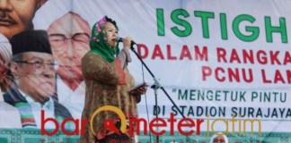Yenny Wahid menghadiri Harlah ke-96 NU di Lamongan. | Foto: Barometerjatim.com/hamim anwar