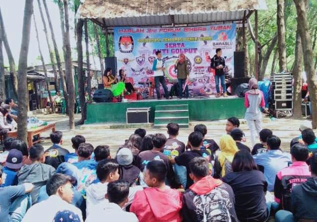 Lawan perusak NKRI! Bikers Tuban deklarasi Pemilu damai dan antigolput, Rabu (3/4/2019). | Foto: Ist