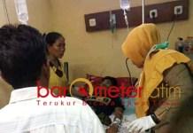 Robin Syahid saat dirawat di RSUD dr Soegiri Lamongan. | Foto: Barometerjatim.com/hamim anwar