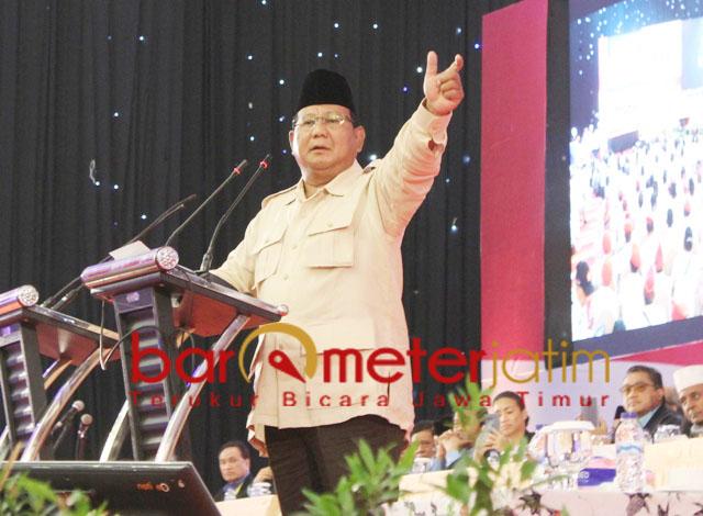 Prabowo Subianto kampanye di Dyandra Convention Hall, Surabaya, Jumat (12/4/2019). | Foto: Barometerjatim.com/roy hs