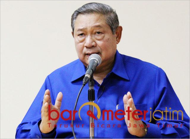 SBY, kritik kampanye 'tak lazim' Prabowo Subianto di GBK Jakarta. | Foto:  Barometerjatim.com/dok