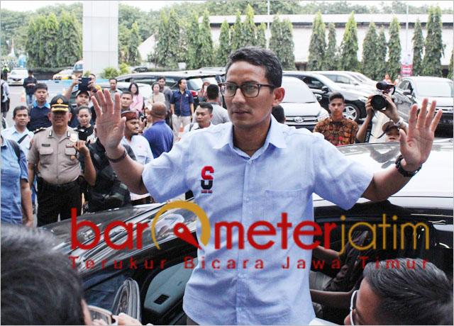 Sandiaga Uno usai dialog interaktif dengan guru PAUD di Surabaya. | Foto: Barometerjatim.com/roy hs