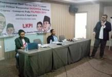 Elektabilitas Jokowi melorot! Pemaparan hasil survei LKPI di Hotel Grand Alia Cikini, Jakarta. | Foto: Ist