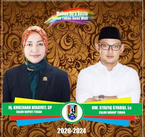 Beredar gambar Gus Syafiq diduetkan dengan Khozanah Hidayati maju Pilbup Tuban 2020. | Foto: Ist