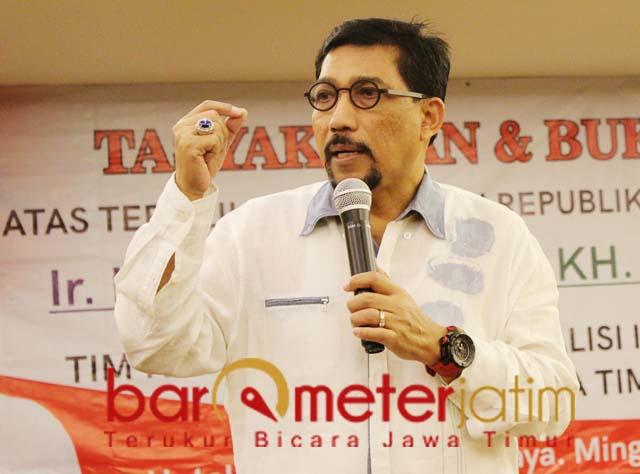 Machfud Arifin, tuntutan Prabowo-Sandi ke MK tak rasional.   Foto: Barometerjatim.com/roy hs
