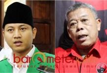 Kusnadi (kanan), PDIP restui Nur Arifin maju ketua Ansor Jatim. | Foto: Barometerjatim.com/roy hs