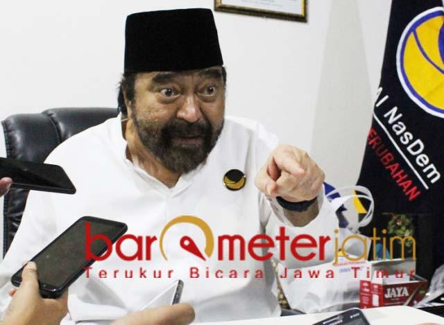 Ketum Nasdem, Surya Paloh. Massa aksi 22 Mei jangan paksakan kehendak. | Foto: Barometerjatim.com/roy hs