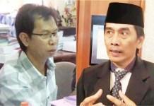 DANA APBD: Adi Sutarwijono (kiri) dan Nur Syamsi, Pilwali Surabaya dianggarkan Rp 85,1 miliar. | Foto: IST
