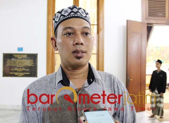 TOLAK AKLAMASI: Gus Aam, tolak aklamasi Ansor Jatim biar tahu mana ayam petarung dan ayam sayur. | Foto: Barometerjatim.com/ROY HS