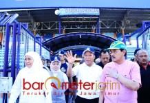 VENUE PORPROV: Khofifah tinjau kesiapan Stadion Surajaya Lamongan. | Foto: Barometerjatim.com/MARJAN AP