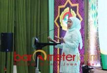 KEBANGSAAN: Khofifah di acara LDII Jatim. Bangun ukhuwah wathaniyah, insaniyah dan islamiyah. | Foto: Barometerjatim.com/ROY HS