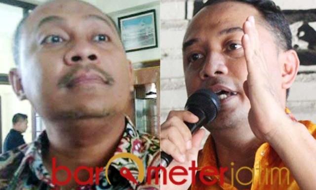 BIROKRAT BERSAING KETAT: Hendro Gunawan (kiri) dan Eri Cahyadi masuk bursa Pilwali Surabaya. | Foto: Barometerjatim.com/ROY HS/IST