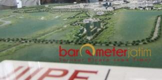 MAKET: JIIPE, role model kawasan Industri terintegrasi dengan infrastruktur lengkap. | Foto: Barometerjatim.com/ABDILLAH HR