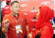 PILWALI SURABAYA: Whisnu bersama Puti, masih berpeluang diusung PDIP di Pilwali Surabaya? | Foto: Barometerjatim.com/ROY HS
