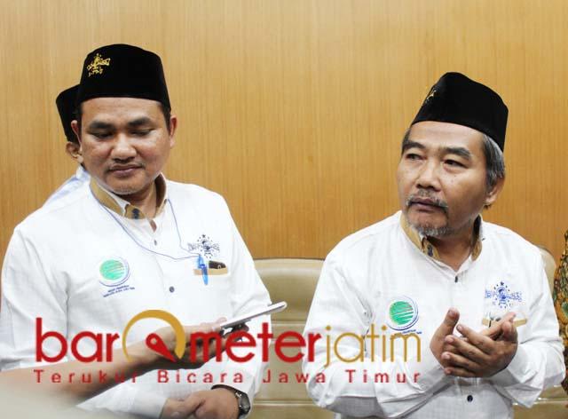 KEK GARAM: Nur Syahroni (kiri) dan Mahmud Mustain, Madura layak jadi KEK garam. | Foto: Barometerjatim.com/ROY HS
