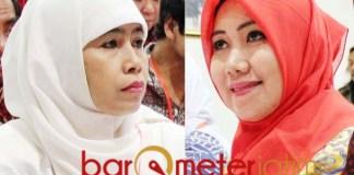 JANGAN BEBANI KHOFIFAH: Dwi Astuti (kiri) dan Lia Istifhama, disarankan memantaskan diri di Pilwali Surabaya. | Foto: Barometerjatim.com/ROY HS