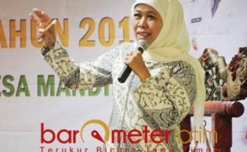 ENTAS DESA TERTINGAL: Khofifah di forum Temu Ilmiah Nasional 2019. | Foto: Barometerjatim.com/ABDILLAH HR