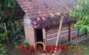 KEMISKINAN PERDESAAN: Salah satu rumah sederhana di perdesaan di Jatim. | Foto: Barometerjatim.com/ROY HS