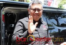MENTERI JAGOAN RISMA: Hasto Kristiyanto, Risma daftarkan jagoannya ke DPP PDIP. | Foto: Barometerjatim.com/ROY HS