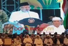 HARI SANTRI 2019: Ma'ruf Amin berharap ada santri yang menjadi Presiden RI. | Foto: Barometerjatim.com/ROY HS