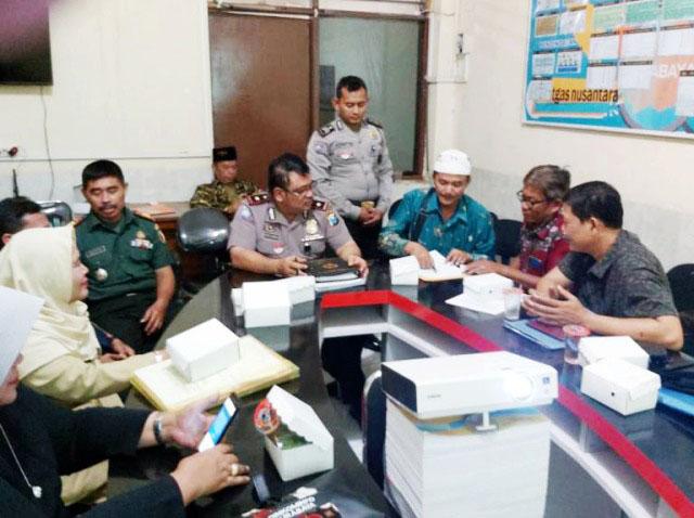 SOSIALISASI PRA EKSEKUSI: Polrestabes Surabaya mengundang para pihak untuk sosialisasi pra eksekusi Astranawa. | Foto: IST