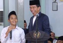 TERBUKTI PRABOWO MENTERI: Jokowi saat tebak-tebakan dengan Aska Fikri tiga tahun yang lalu. | Foto: IST