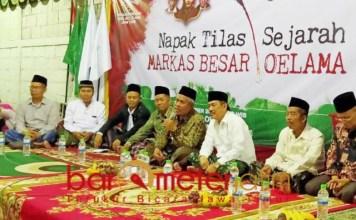 NAPAK TILAS MBO: KH Marzuki Mustamar di acara napak tilas sejarah MBO. | Foto: Barometerjatim.com/NATHA LINTANG