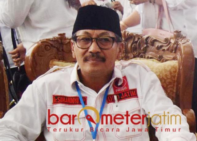 PILBUP LAMONGAN: Suhandoyo, tak ingin banyak mengambil Parpol di Pilbup Lamongan. | Foto: Barometerjatim.com/ROY HS